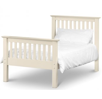 Barcelona High Footend Bedframe  -  Stone White